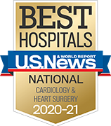 U.S. News and World Report Ranking Best Hospitals ranking 2020-2021 Cardiology & Heart Surgery.